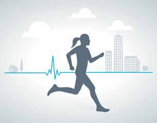running background 002 - woman