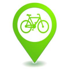 vélo sur symbole localisation vert