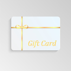 Gift card with a gold bow