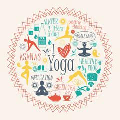 Illustration of yoga lifestyle