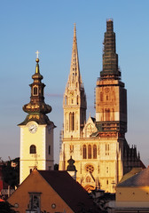 Zagreb, cathedral in Croatia