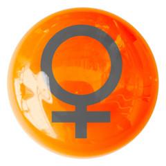 bouton symbole féminin