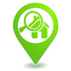 diagnostic immobilier sur symbole localisation vert