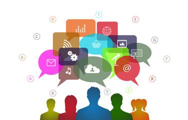 infographics social networks communication Internet