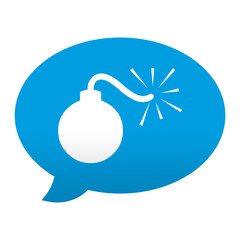Etiqueta app comentario simbolo bomba