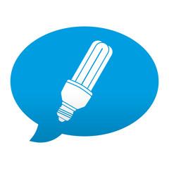 Etiqueta app comentario simbolo bombilla de bajo consumo