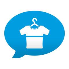 Etiqueta tipo app azul comentario simbolo camiseta