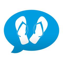 Etiqueta app comentario simbolo chanclas