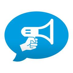 Etiqueta app comentario simbolo megafono