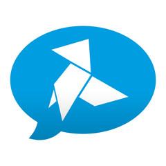 Etiqueta app comentario simbolo pajarita de papel
