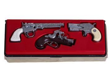 set of toy guns