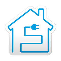 Pegatina simbolo instalacion electrica