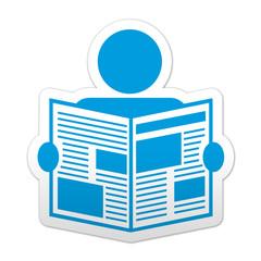Pegatina simbolo News