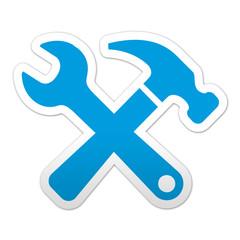 Pegatina simbolo herramientas