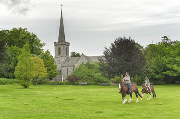 Church and Horseriders in England