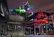 canvas print picture - Industrie-Kultur bei Nacht