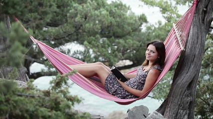 Girl in hammock e-book