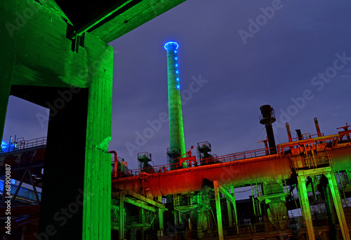 canvas print picture Industrie-Kultur bei Nacht