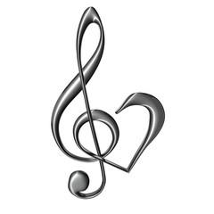 zilver sieraad muziek g sleutel