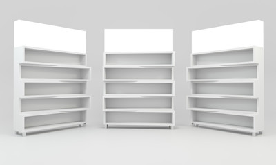 White shelves