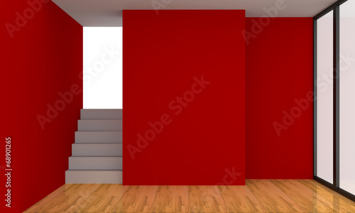 canvas print picture Red Living Room