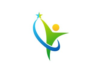 celebration,logo,wellness,health,people,nature,circle,business