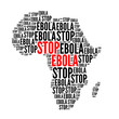 canvas print picture - Stop ebola red and black