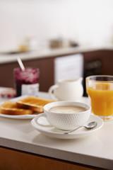 Coffee latte for breakfast