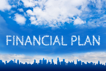 financial plan text on cloud
