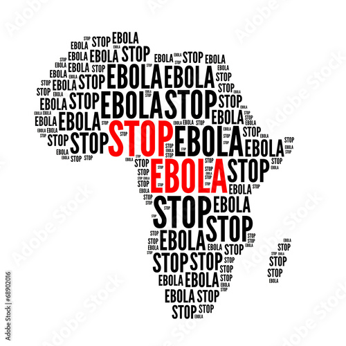 canvas print picture Stop ebola red and black