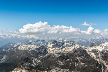 Matterhorn Mountain Range With Blue Sky and Cloudscape