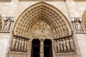 Main Entrance of Cathédrale Notre Dame de Paris