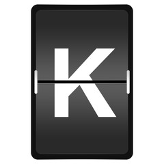 flipboard letter K from a series of Airport timetable