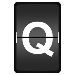 flipboard letter Q from a series of Airport timetable