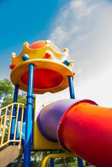 Modern children playground in park.