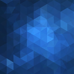 Blue Triangle Abstract Background