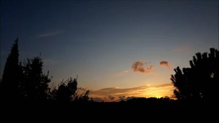 Breve time lapse al tramonto