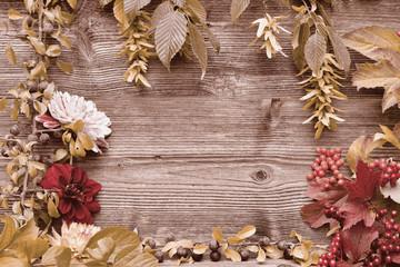 buntes Laub Holz Hintergrund