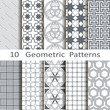 set of ten geometric patterns