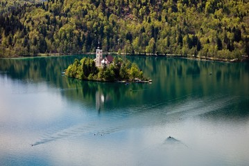 Church in the Bled lake