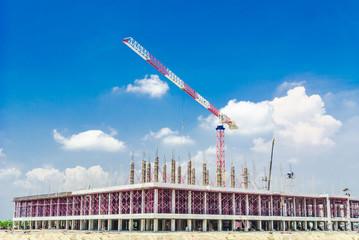 Crane building factory construction.