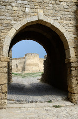 Gate to middle fortress bastion in old stronghold Akkerman