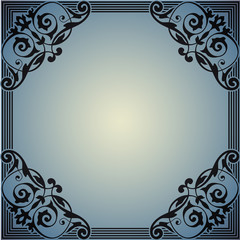 Decorative frame in the style of vintage