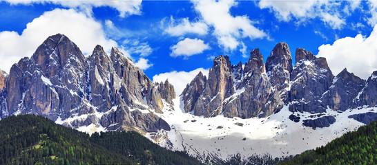 impressive Dolomites mountains, Val di Funes, north Italy