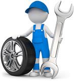 Fototapety Handwerker Mechaniker mit Steckschlüssel