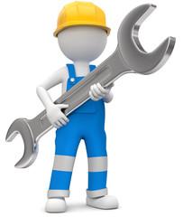 Handwerker Mechaniker mit Steckschlüssel