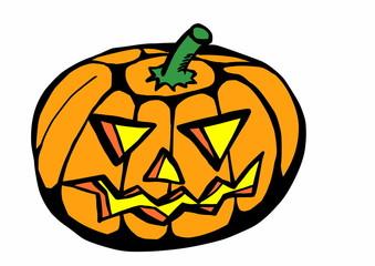 doodle halloween pumpkin