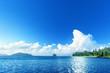 beach on La Digue island, Seychellas