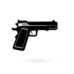 Black Icon gun. Raster