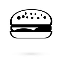 Black Icon sandwich. Raster
